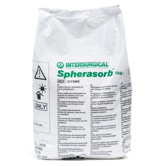 «Spherasorb» CO2-absorbeermiddel van Intersurgical