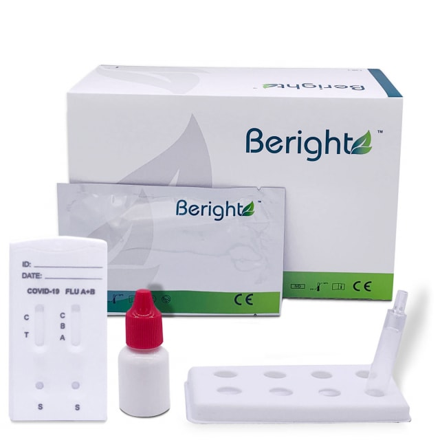 Test combinato per antigene Covid-19 e influenza Beright