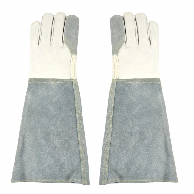 Beschermende leren handschoenen