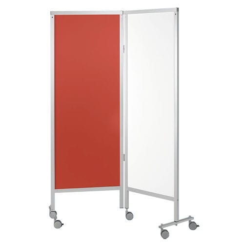 Room divider with wheels