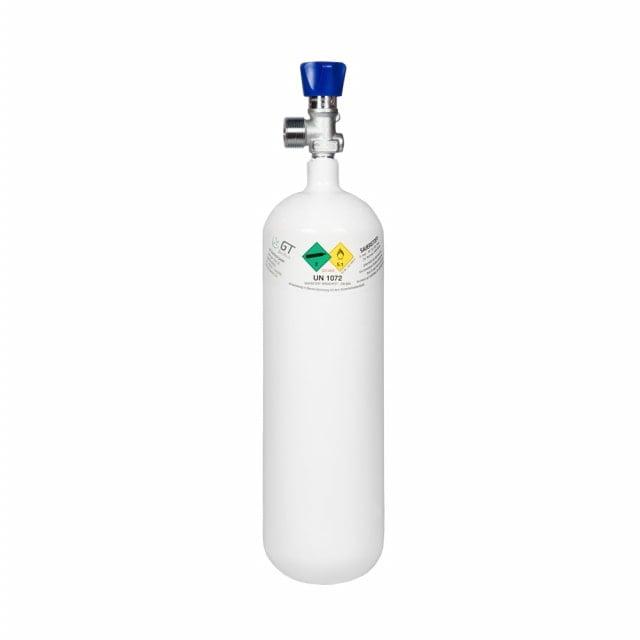 Sauerstoffflasche Leichtstahl, gefüllt