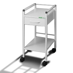 Small multipurpose trolley with one drawer