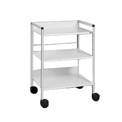 Coloured  trolley with shelves