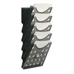 Wandprospekthalter A4, grau-transparent