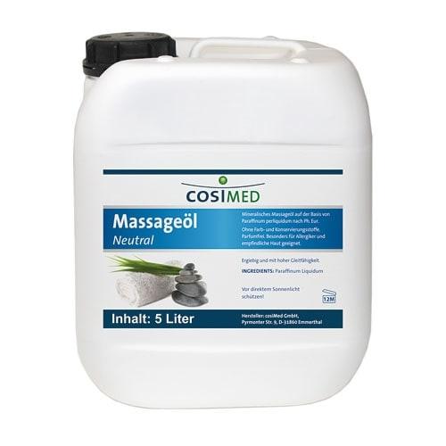Huile de massage neutre 5 litres
