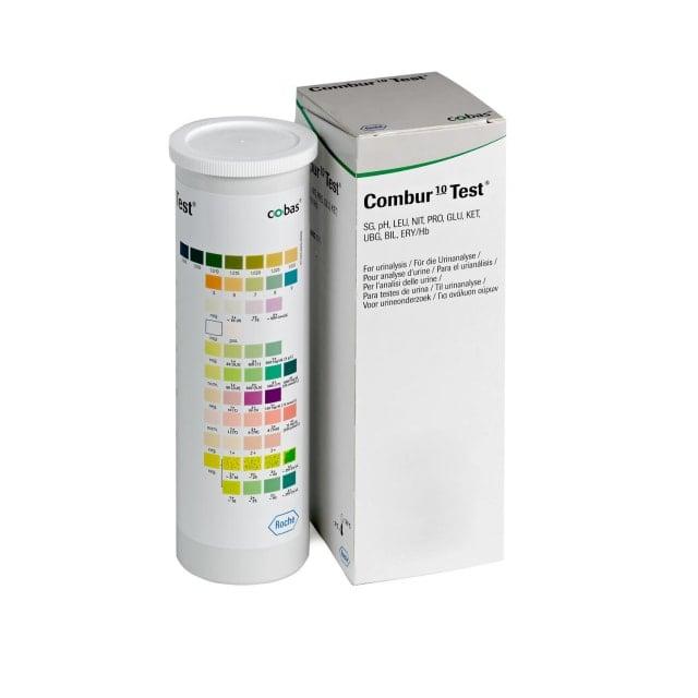 Combur 10 Test análisis de orina, 100 tiras reactivas