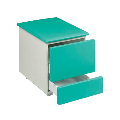 Examination table- wheeled storage element with seat pad