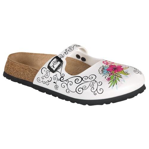 Damen-Clogs «Flowers»