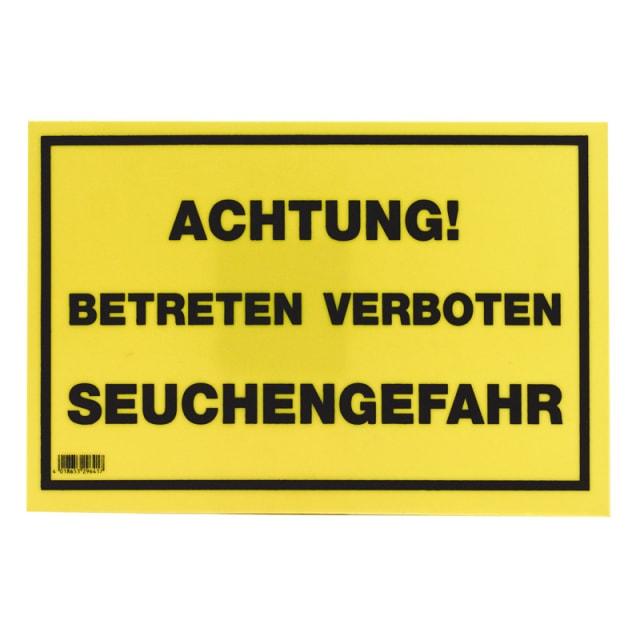 Warnschild «Seuchengefahr»