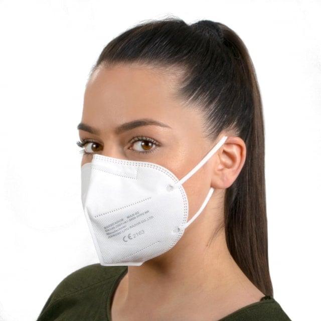Foldable FFP2 Mask unvalved