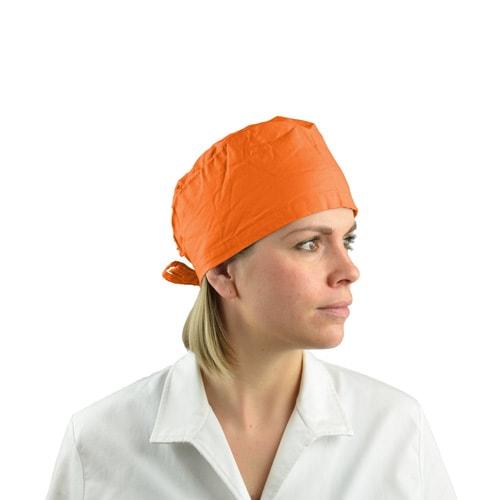 Stoff-OP-Haube orange
