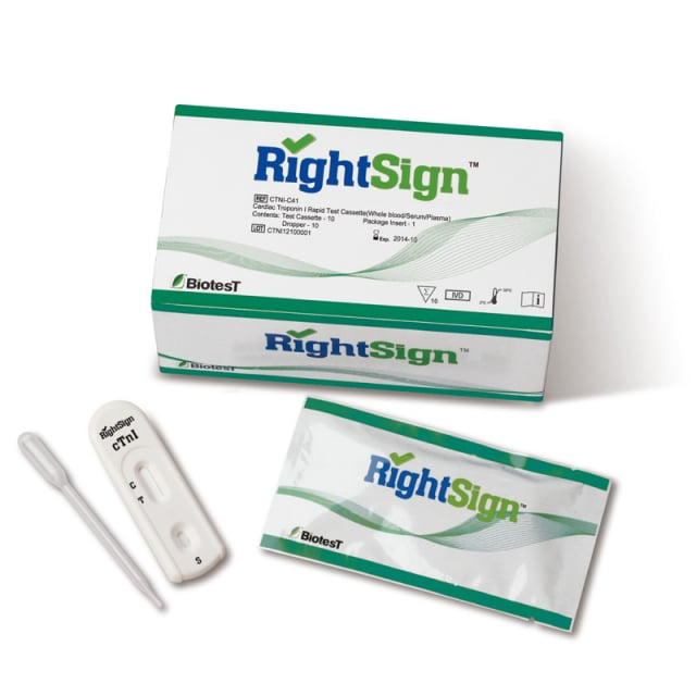 Right Sign cTnI Troponin Test, 10 Pcs.