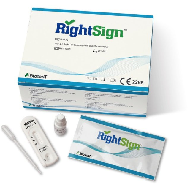 Right Sign HIV-sneltest 1.2.O