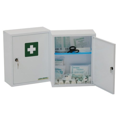 Medisan A First Aid Cabinet, filled