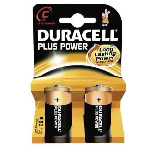 Duracell Baby Cell C batteries in double pack