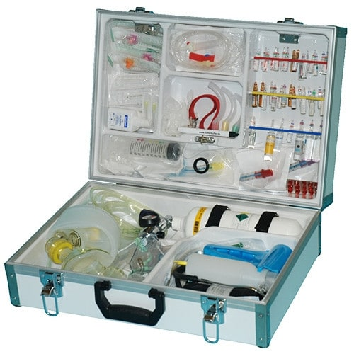 Fully-equipped emergency kit with a variety of first-aid supplies