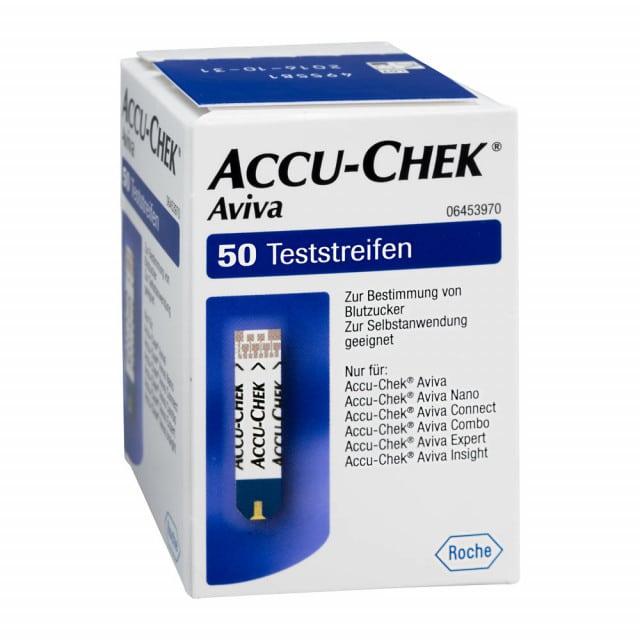Accu-Chek Aviva Teststreifen für die schnelle, einfache Blutzuckerbestimmung
