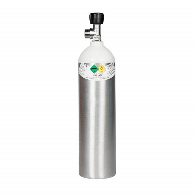 Sauerstoffflasche 1,8 l aus Aluminium mit einem Fülldruck von 200 bar