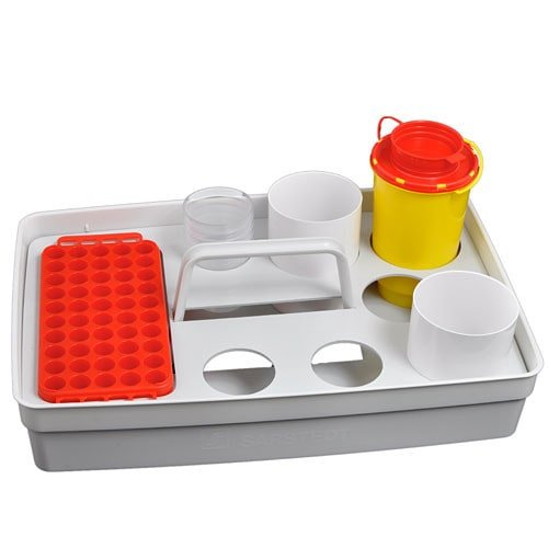 Safety tray: blood collection tray made of robust plastic
