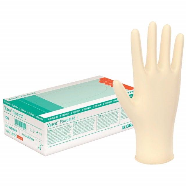 Vasco® powdered latexhandschoenen
