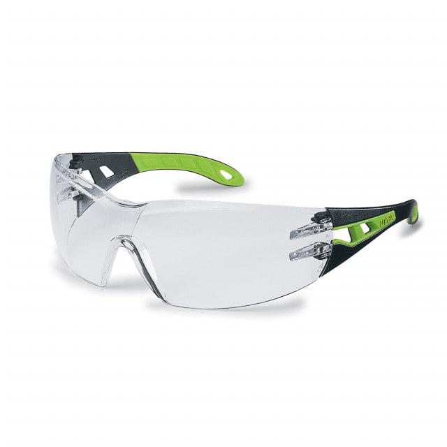 Okulary ochronne uvex pheos z dużym polem widzenia i ochroną brwi