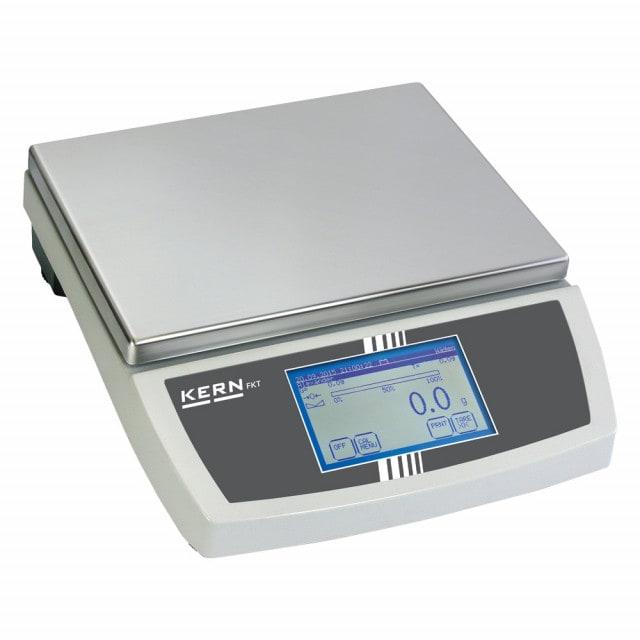 Balanza de laboratorio con pantalla táctil calibrada y diversos modos de funcionamiento