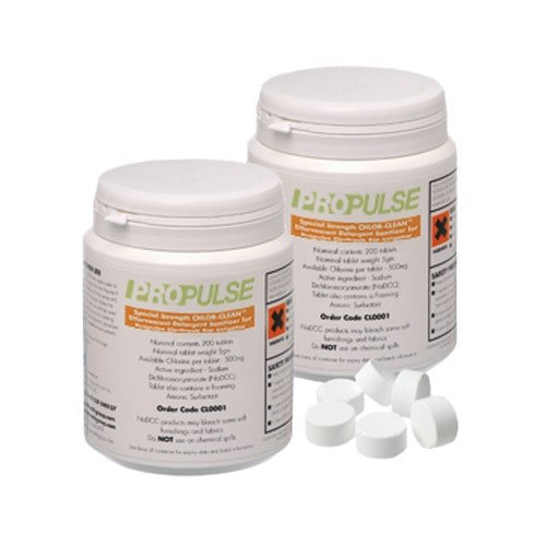 Propulse cleaning tablets for cleaning of  ear flushing devices