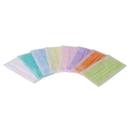 Mascherine mediche monouso con filtro antibatterico, in molti colori moderni