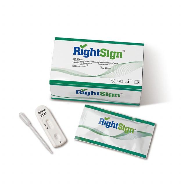 Right Sign cTnI Troponin Test, 10 Pcs.