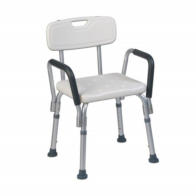 Silla de ducha Teqler para pacientes con movilidad reducida que necesitan cuidados de enfermería