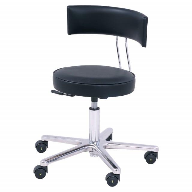 Silla quirúrgica con inclinación ergonómica del asiento y regulación continua de la altura