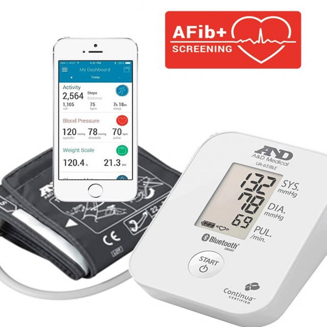 Blutdruckmessgerät UA-651BLE mit Bluetooth-Datenübertragung