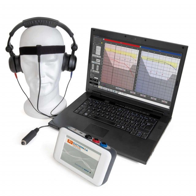 Audiometer 820M with bone conductor, optionally with Radioear DD45 or DD65V2 headphones