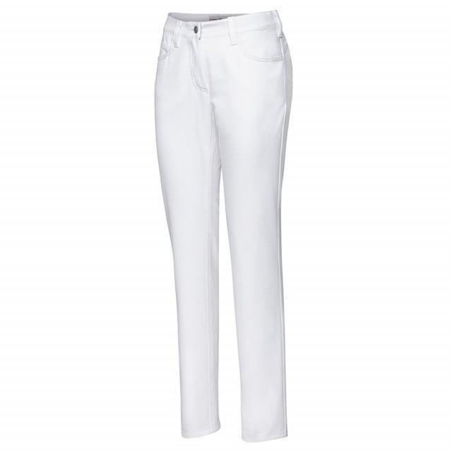 Witte damesbroek met 2 zijzakken