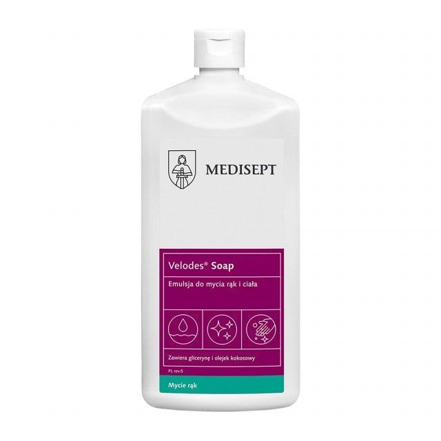 Velodes Soap emulsja do mycia rąk, nie zawiera mydła
