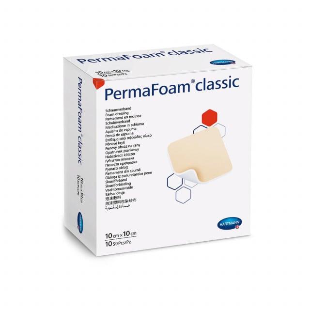 Medicazione in schiuma PermaFoam per la copertura di ferite da moderatamente a fortemente essudanti