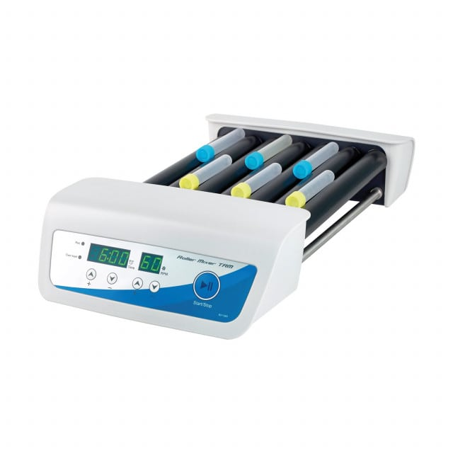 Digital roller mixer with 7 rollers and particularly quiet motor
