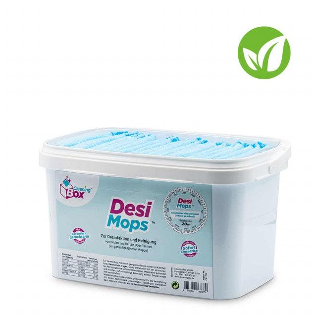 DesiMops 360° disinfectant mops in refillable dispenser box