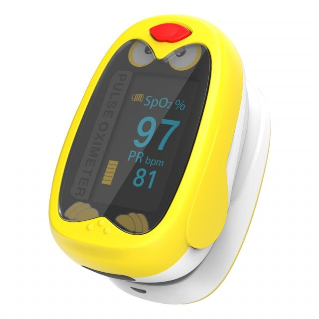 Pulsoksymetr dla dzieci Yonker K1 z dużym, dwukolorowym wyświetlaczem OLED