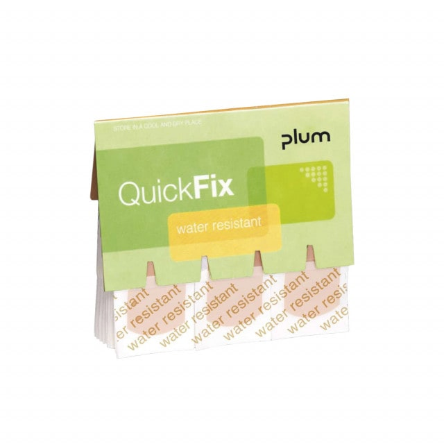 QuickFix plaster refill pack, water resistant or elastic plasters