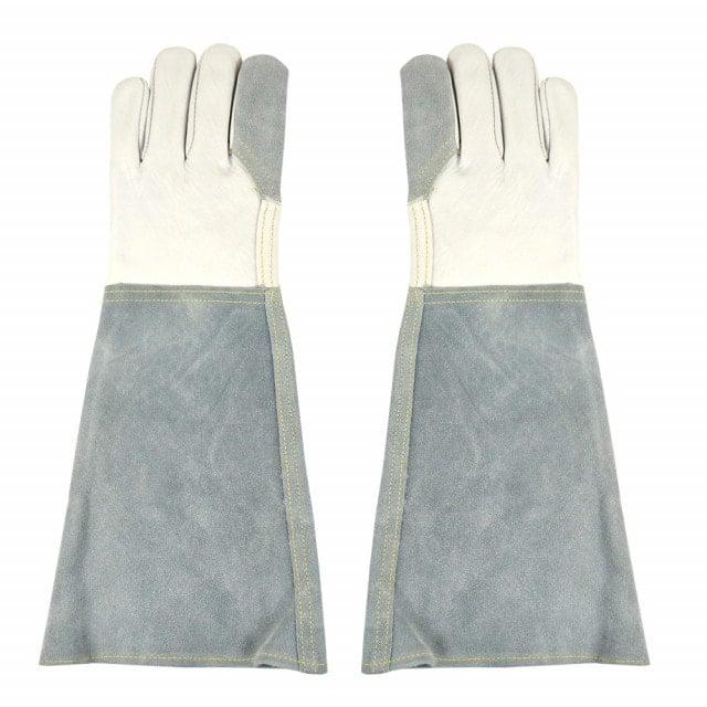 Gants de protection en cuir, avec renfort en cuir fendu