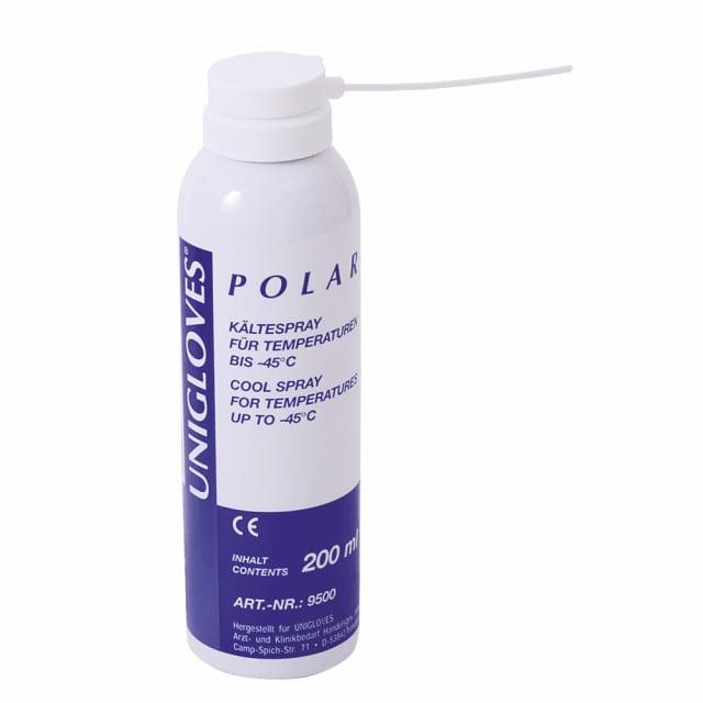 Cold spray for vitality testing in dentistry