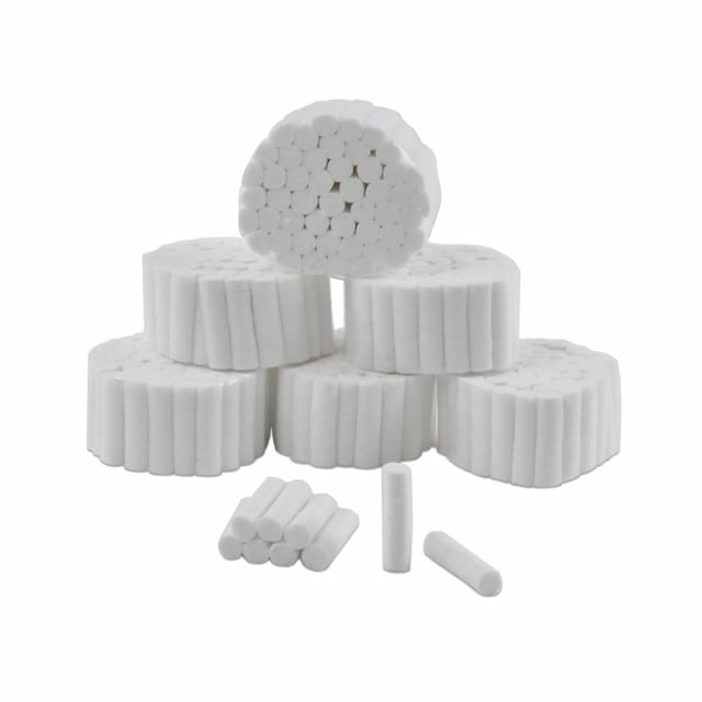 Cotton wool rolls for use in dentistry | Highly absorbent, rolls retain their shape