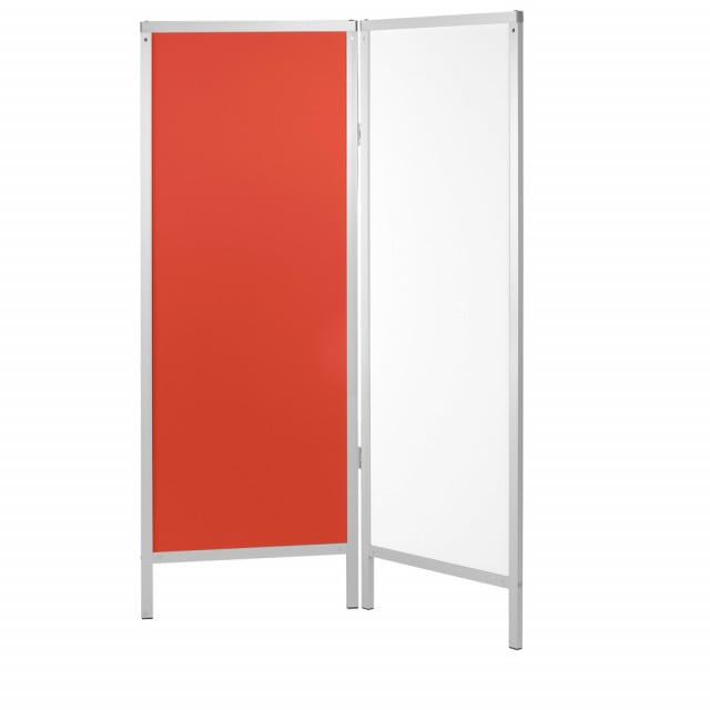 Stationary partition with aluminium profile frame and hygienic hard foam panels