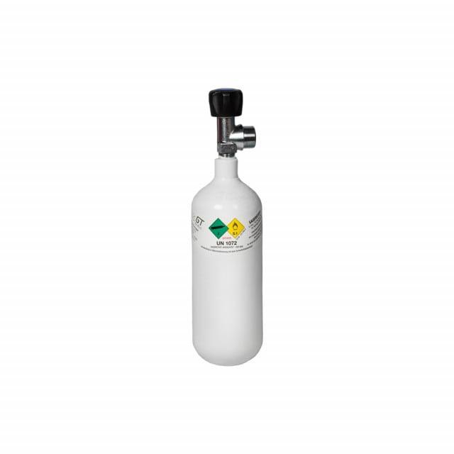 Sauerstoffflasche Leichtstahl, gefüllt mit einem Fülldruck von 200 bar