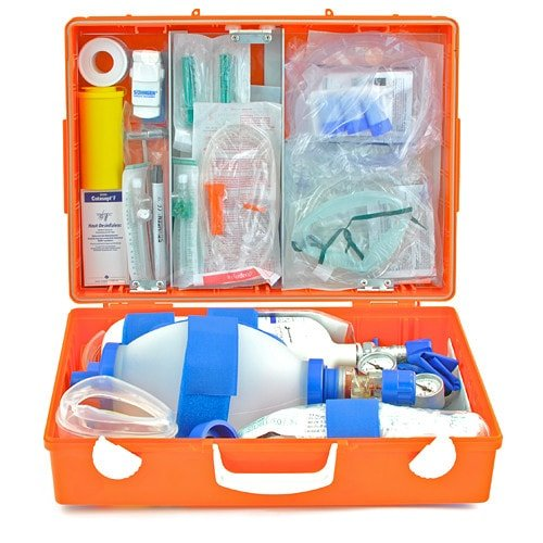 First aid kit with basic equipment and space for your own contents