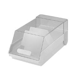 Helit index card box for approx. 1000 index cards in DIN A5 format