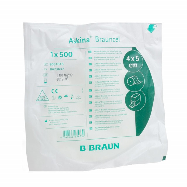 Brauncel cellulose swabs made from particularly soft, absorbent cellulose