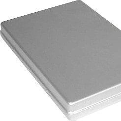 Aluminium cassette with lid for use with hot-air steriliser MELAG 75