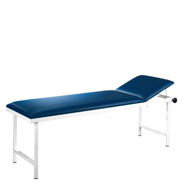 Exam Table with comfortable, synthetic leather upholstery